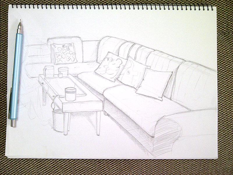 sofa-sketching
